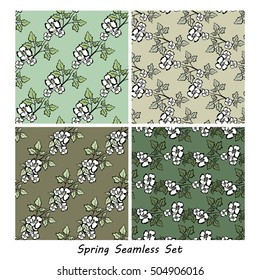 Vector seamless floral background. Pattern for design, brochures, wrapping. Eps10