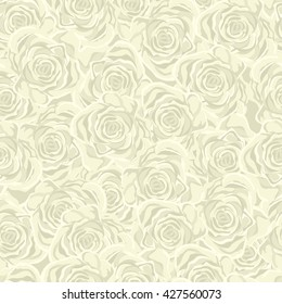 Vector Seamless Floral Pattern. Flower pattern with Yellow and Pink  Roses. Vintage Background for your design: Fashion fabric, Wallpaper, Wedding Invitation or Congratulation and etc.