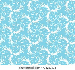Vector seamless floral pattern. Modern stylish abstract texture.