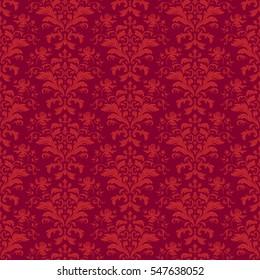 Vector seamless floral pattern. Paper wallpaper pattern.