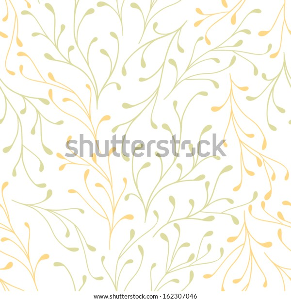 Vector Seamless Floral Pattern Simple Light Stock Vector