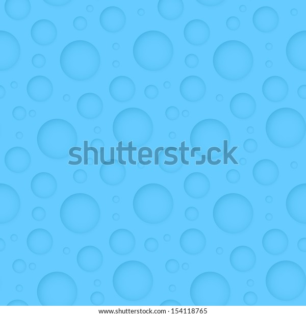 Vector seamless geometric blue pattern - abstract background with round holes for design