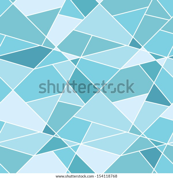Vector seamless geometric blue polygonal pattern - abstract background for design