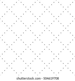 Vector seamless geometric pattern. Abstract white background with black dotted lines. Dot line pattern