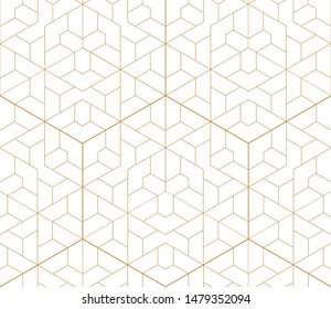 Vector seamless geometric pattern. Gold linear pattern. Wallpapers for your design.