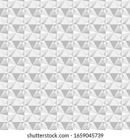 Vector seamless geometric pattern in light grey colors. Stylish texture.