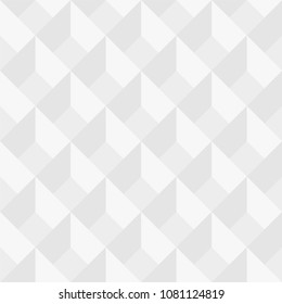 Vector seamless geometric pattern - minimal design. White decorative texture.