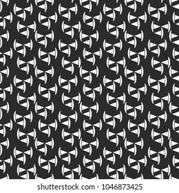 Vector seamless geometric texture. Modern abstract background. Monochrome repeating triangles pattern.3