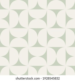 Vector seamless geometric vintage pattern. Abstract retro background design. Simple monochrome repeating semicircular shapes tiling.