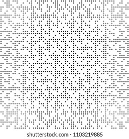 Vector Seamless Geometry Truchet Pattern. Black and white simple seamless pattern. Simple rpund dots pattern.