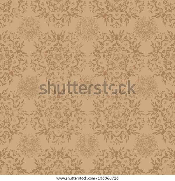 Vector Seamless Grunge Texture Stock Vector (Royalty Free) 136868726