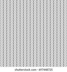 Vector seamless herringbone pattern. Geometric line texture. Black-and-white background. Monochrome design. Vector EPS10