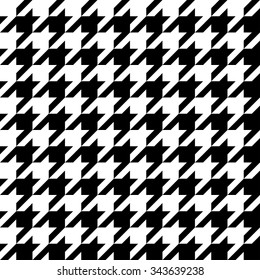 vector seamless hounds tooth pattern. endless texture black and white style. abstract geometric ornament background.