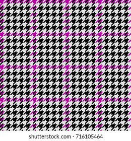 Vector seamless hounds tooth pattern with purple color.