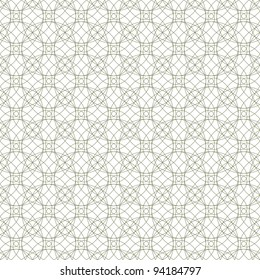 Vector seamless illustration of tangier grid, abstract guilloche ornament
