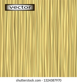 Vector seamless illustration texture background of straight yellow, Golden straw, dry reed vertical grass arrangement