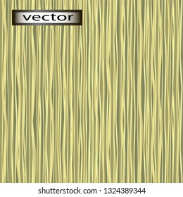 Vector seamless illustration texture background of bent, wavy green and yellow straw, dry reed vertical grass arrangement