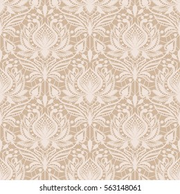 Vector seamless lace pattern in vintage style