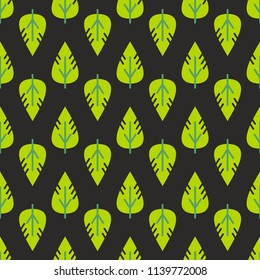 Vector seamless leaves pattern. Decorative illustration, good for printing.   Colorful wallpaper vector. Great for label, print, packaging,fabric.