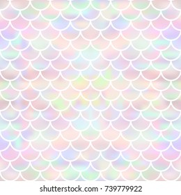 Vector seamless mermaid background with a pattern of fish scales