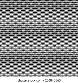 Vector seamless metal pattern