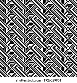 Vector seamless models. Modern stylish texture. Composition from regularly repeating geometrical element. Monochrome, simple. Vector illustrations.
