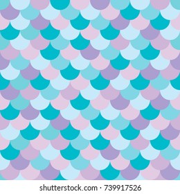 Vector seamless multicolored mermaid background with a pattern of fish scales