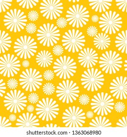 Vector seamless napkin background with abstract pattern of flowers
