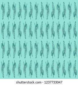 Vector seamless natural pattern with leaves. Decorative illustration with doodles on abstract template. Template for business cards, websites.