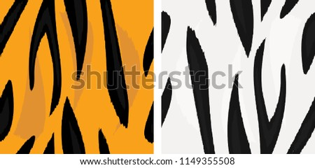 vector seamless normal snow tigers skin stock vector royalty free