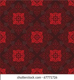 Vector Seamless Oriental Tile (background, wallpaper, pattern, texture)