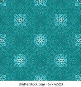 Vector Seamless Oriental Tile (background, wallpaper, texture, pattern)