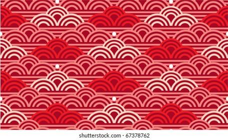 Vector Seamless Oriental Waves Tile (background texture wallpaper)