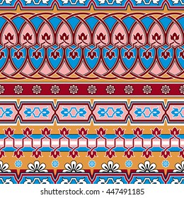 vector seamless ornament with Asian pattern