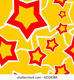 Vector. Seamless ornament with star in color 98. More seamless see in portfolio