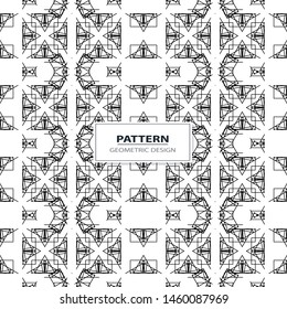 Vector seamless ornamental pattern - geometric design. Abstract trendy background. Grid creative texture.