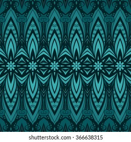 Vector Seamless Ornate Pattern. Hand Drawn Damask Texture, Vintage Style