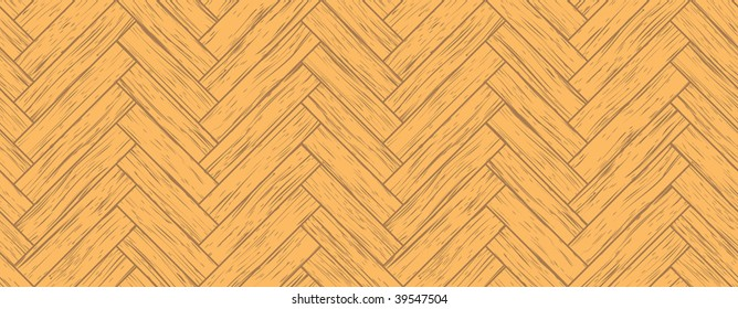 Vector seamless parquet background, all the planks are different