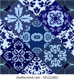 vector seamless patchwork pattern. oriental or russian design