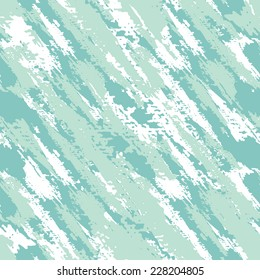 Vector seamless pattern. Abstract background with diagonal brush strokes. Hand drawn texture in shades of mint