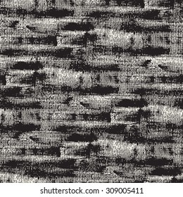 Vector seamless pattern. Abstract background with continuous coating of brush painting. Monochrome hand drawn texture with brush strokes.