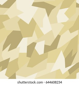 Vector seamless pattern. Abstract geometric yellow camouflage.