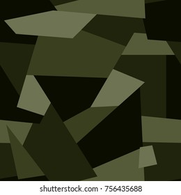 Vector seamless pattern. Abstract geometric  camouflage.