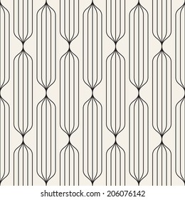 Vector seamless pattern. Abstract stylish background. Linear striped texture