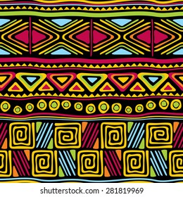vector seamless pattern with african ornament
