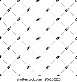 Vector seamless pattern, agriculture, Editable can be used for web page backgrounds, pattern fills