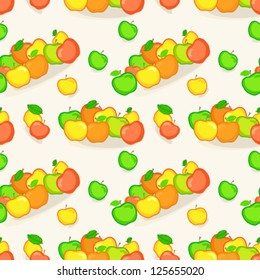Vector seamless pattern with apple