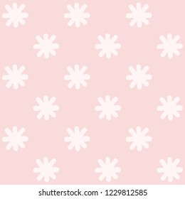 Vector seamless pattern background illustration made with asterisks symbols isolated on pink background
