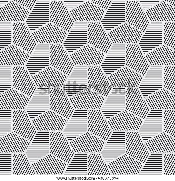 Vector Seamless Pattern Background Line Geometricmodern