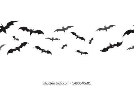 Vector seamless pattern. The bats. Vector graphics. Halloween concept. Vector EPS10.